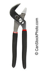 Pliers on a plain background