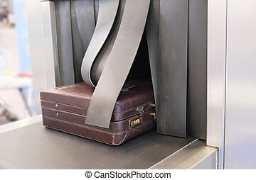 Baggage on conveyor belt - the image of a Baggage on...