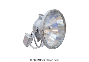 searchlight isolated under the white background