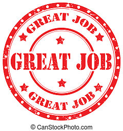 Great Job-stamp - Grunge rubber stamp with text Great...