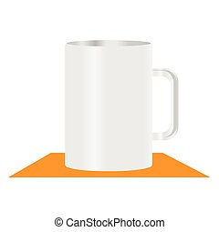 white mug vector illustration