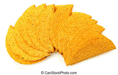 Stack of Cruncy Cornmeal Taco Shells - Stack of Cruncy...