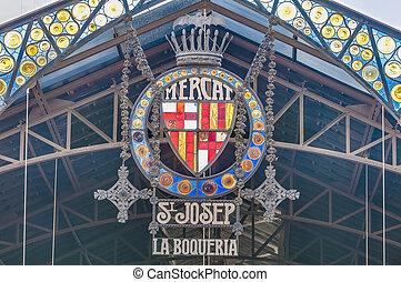 Boqueria Market in Barcelona, Spain - Boqueria Market...