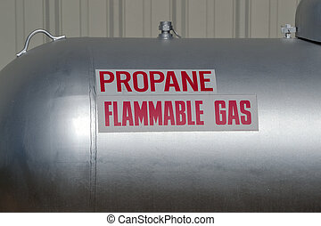 propano,  gas, advertencia, inflamable, tanque