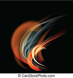 Burn flame fire vector abstract background - Burn flame fire...