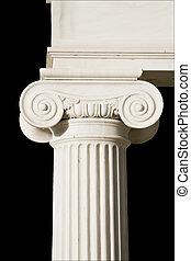 detalle, antiguo, griego, pilar, Iónico, orden