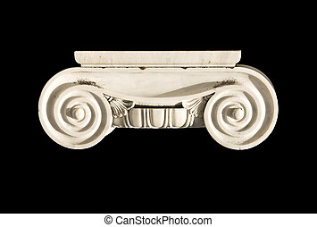 Detail of an ionic order capital from an ancient Greek...