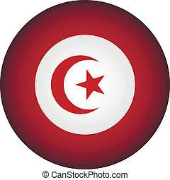 Tunisia flag button.