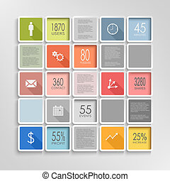 Abstract squares colorful info graphic template vector eps...