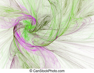 smoky purple and green spiral - smokey purple and green...