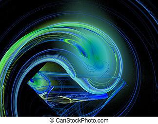 Vivid abstract fractal