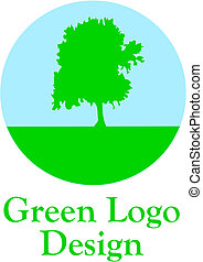 Green logo - Green logo - vector illustration