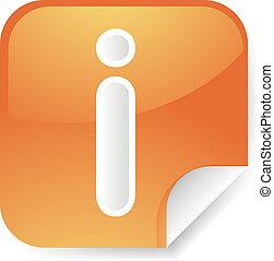 Information symbol sticker - Navigation icon sticker button...