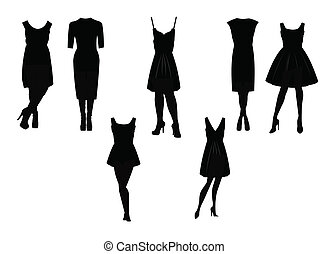 little black dress in silhouette set