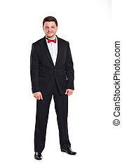 Men in full suit - Full length portrait of man in full suit...