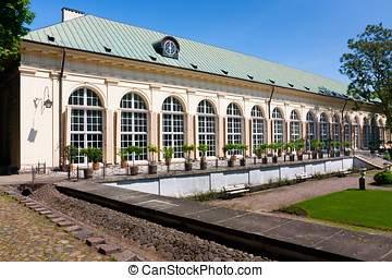 Old Orangery in Royal Baths Park in Warsaw Poland