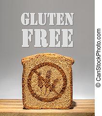 Gluten Free Bread - Bread slice marked with gluten free...
