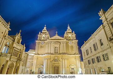 Saint Paul's Cathedral in Mdina, Malta - Saint Paul's...