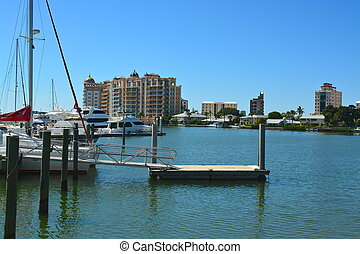Sarasota Marina - Sarasota marine, southwest Florida, USA,...