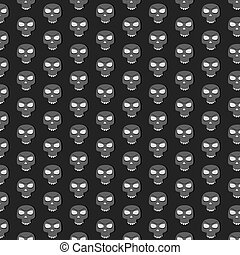 Skull pattern without mandible. Black background.