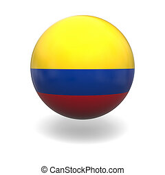 Colombian flag - National flag of Colombia on sphere...