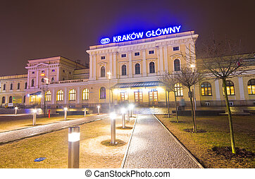 KRAKOW, POLAND -Amtrak train Station