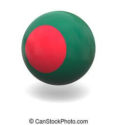 Bangladesh flag - National flag of Bangladesh on sphere...