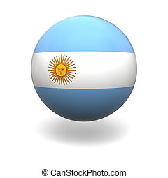 Argentinian flag - National flag of Argentina on sphere...