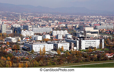 Croatian National Radio and Television Building of and the...