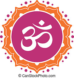 Om symbol omkara in Devanagari and Hindi style