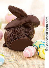 Chocolate bunny - Easter chocolate bunny mafe of dark...