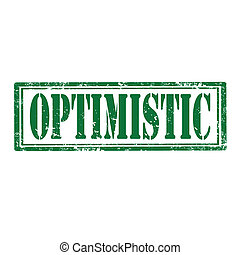 Optimistic-stamp - Grunge rubber stamp with word...