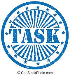Task-stamp - Grunge rubber stamp with word Task,vector...