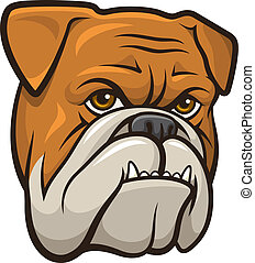 Vector Bulldog - Vector illustration of an angry bulldog...