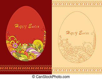 Easter egg card