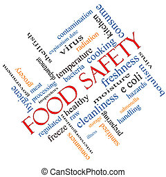 Food Safety Word Cloud Concept Angled - Food Safety Word...