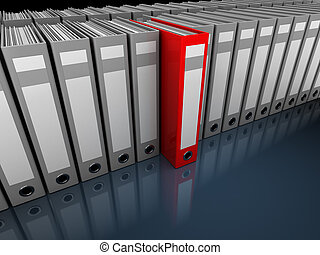 archive - 3d illustration of folders archive storage with...