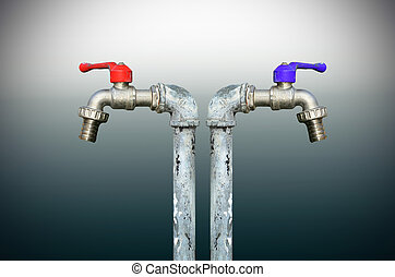 faucet with handles