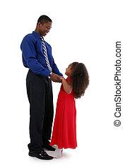 père, fille, danse