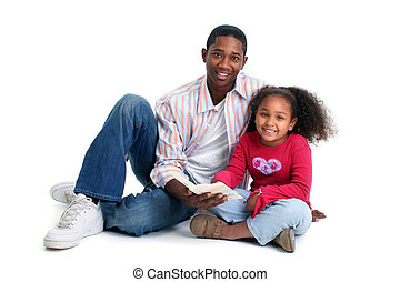 Father Daughter Reading - Father and daugther reading...