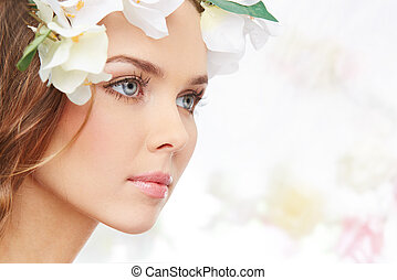 Freshness of spring - Portrait of an attractive young woman...