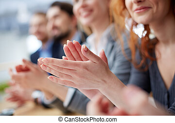 Hands applauding - Photo of business people hands applauding...
