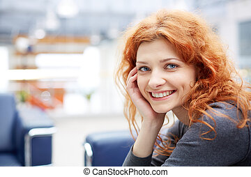 Smart businesswoman - Portrait of young smiling...