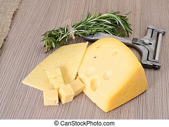 queijo, madeira, fundo