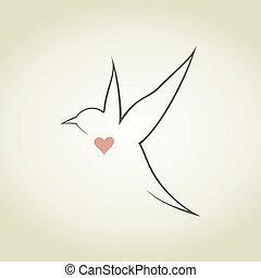 Heart a bird5