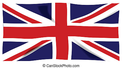 Fluttering Union Jack - The British Union Jack flag...