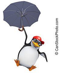 3d Penguin parachute