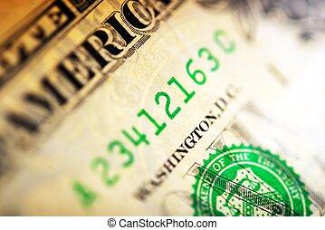 Dollar Serial Number - American Dollar Serial Number Macro...