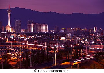 Las Vegas Nevada Cityscape at Night Vegas Illumination...