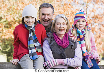 Grandparents and grandchildren on walk - Grandparents and...